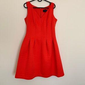 Just Taylor Fit & Flare Jacquard Dress